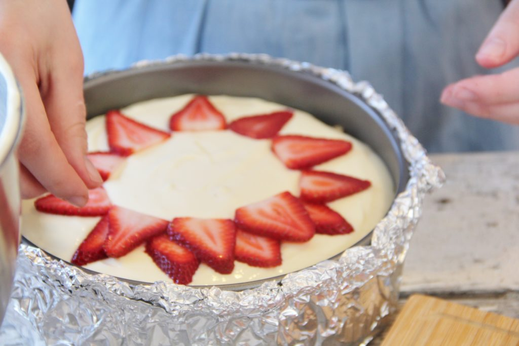 Double Strawberry Cheesecake with Pistachio Shortbread ...